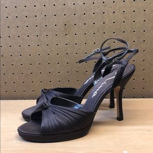 Nina Brown Women's High Heel Sandals sz 12